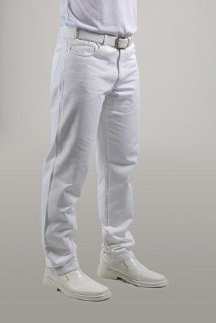 Calça masculina BRANCA tradicional STRAIGHT  Blanco Raro