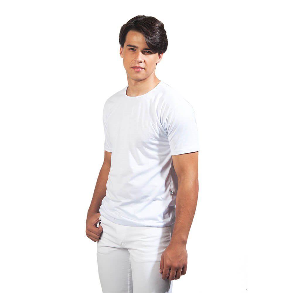 Camisa masculina gola polo malha piquet  BRANCA  Blanco Raro