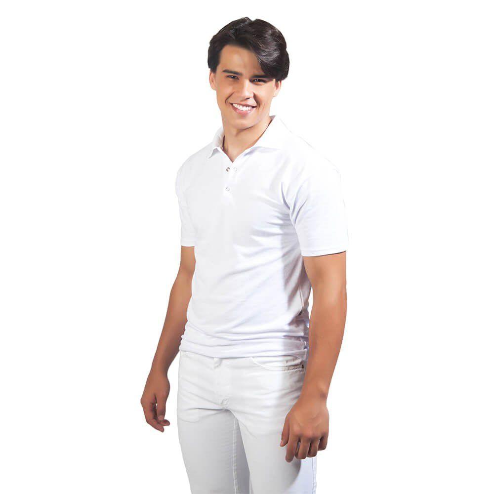 Camisa masculina malha PV   BRANCA  Blanco Raro