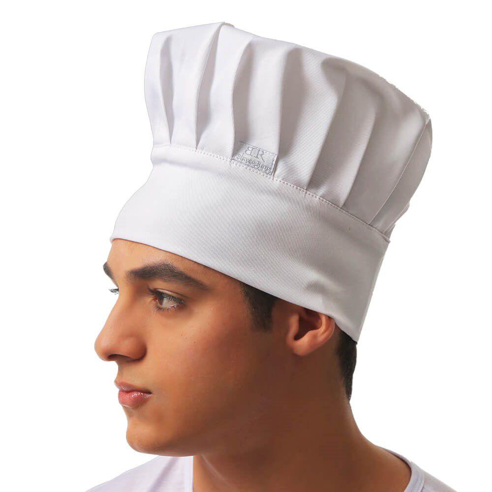 Chapéu Chefe  branco em gabardine Blanco Raro