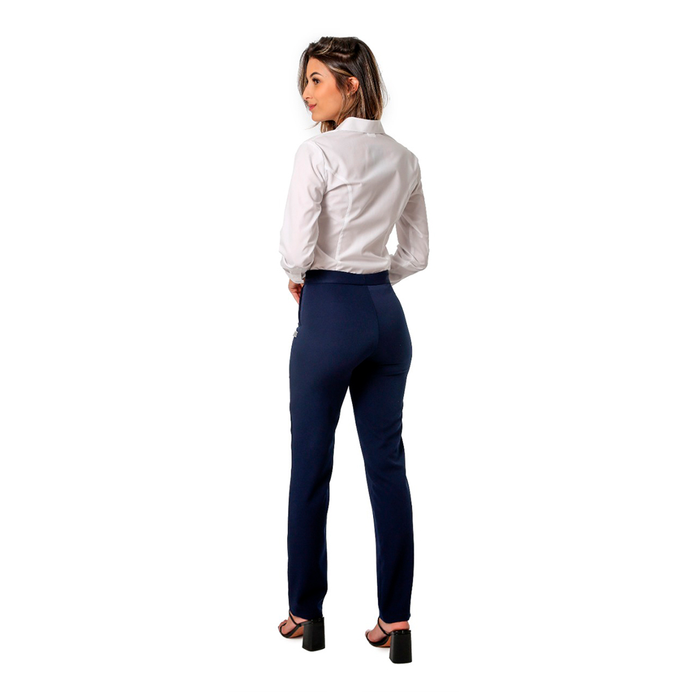 Conjunto social feminino 1 Colete   branco e 1 calça social marinho Blanco Raro