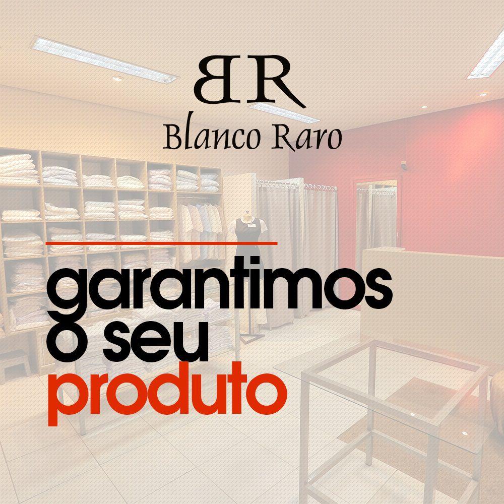 Jaleco feminino BORDADO m/curta acinturado oxford Blanco Raro