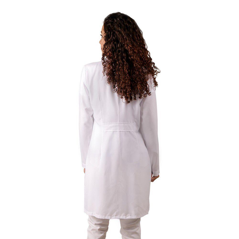 Jaleco feminino BORDADO oxfordine acinturado detalhe MARSALA Blanco Raro