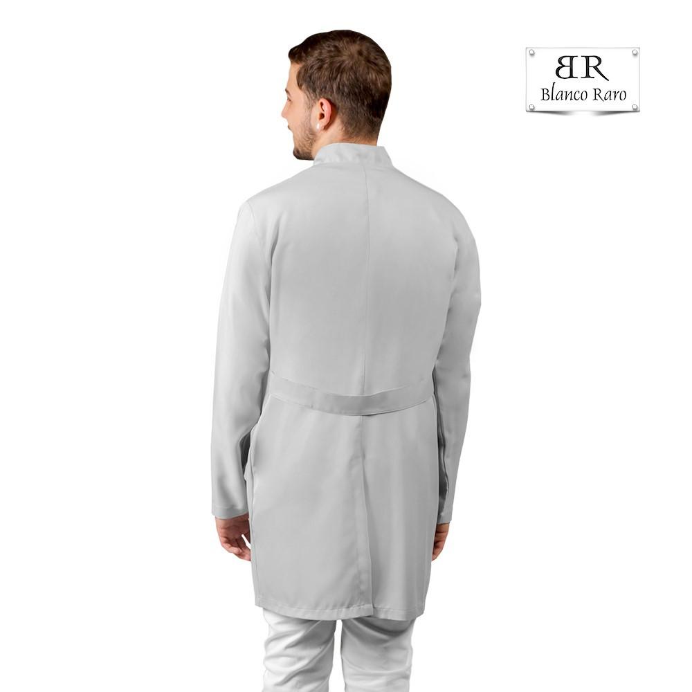 Jaleco masculino CINZA  gabardine manga longa  Blanco Raro