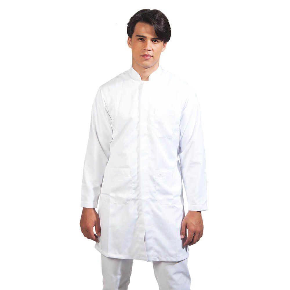 Jaleco masculino oxford manga longa Blanco Raro