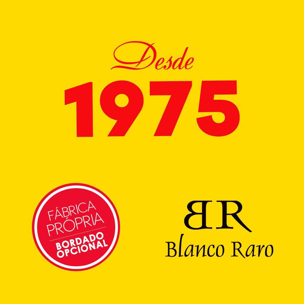 Jaleco masculino oxfordine  detalhe azul BORDADO Blanco Raro