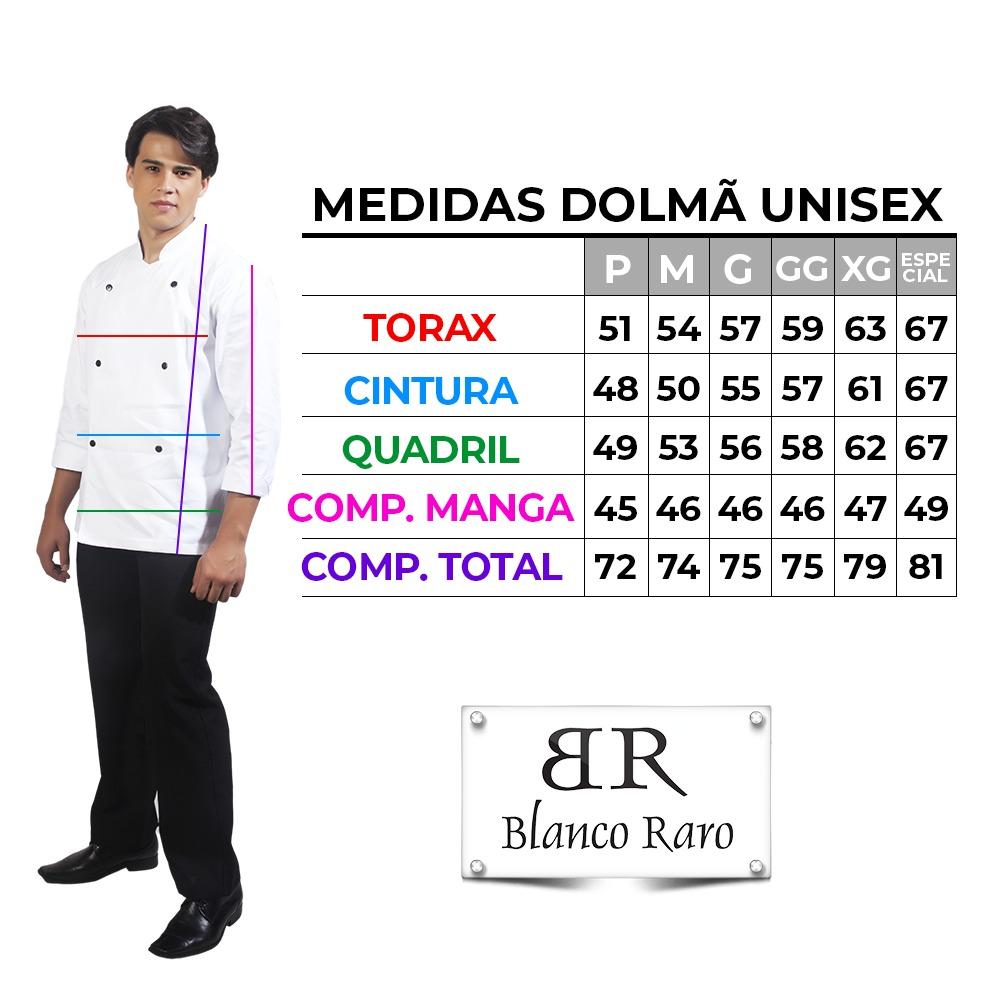 Kit Dolmã Preta + Saiote Chef Vermelho Blanco Raro