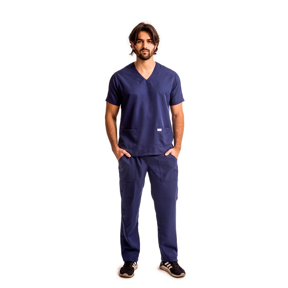 Pijama Cirúrgico Gabardine Marinho Blanco Raro