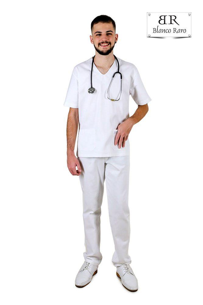 Pijama Cirúrgico Scrub 10% de Desconto a Vista  Branco Blanco Raro
