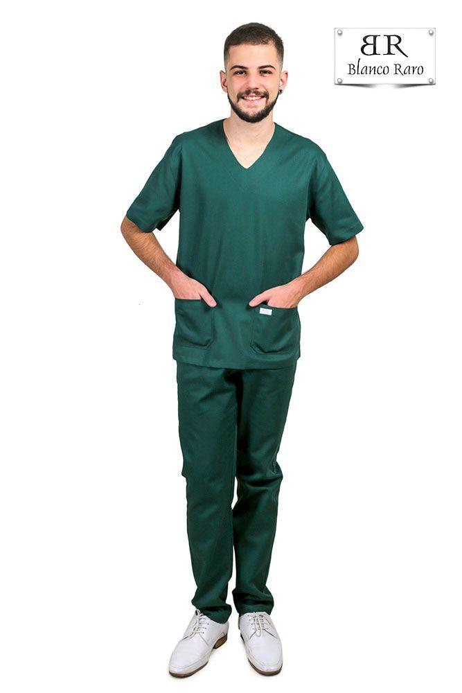 Pijama Cirúrgico Scrub 10% de Desconto a Vista  Verde Blanco Raro