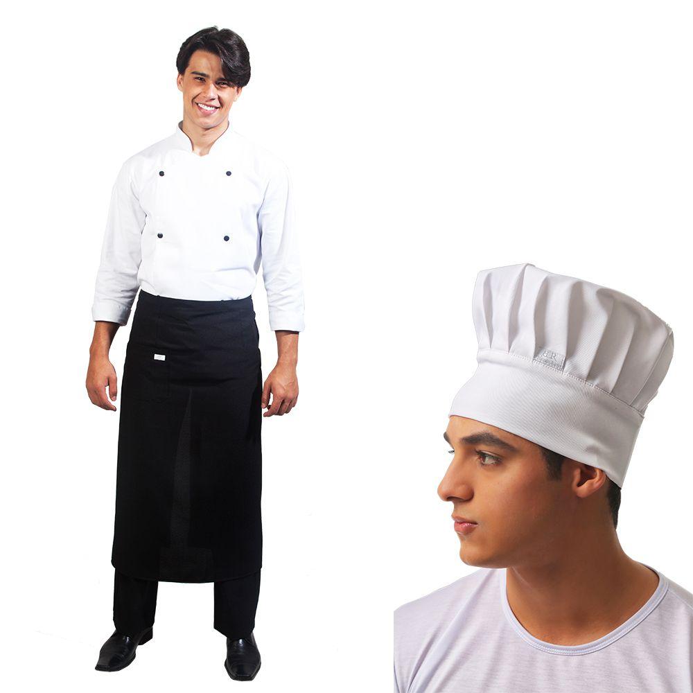 Promoção Kit Dolmã + Saiote + Touca Chef