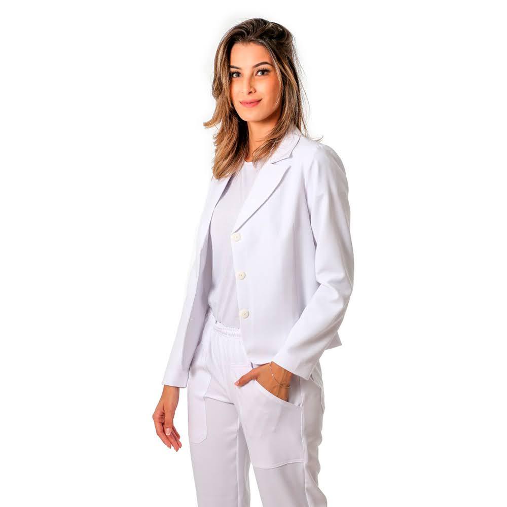 Terninho Social feminino alfaiataria Branco 1 calça e 1 blazer  Blanco Raro