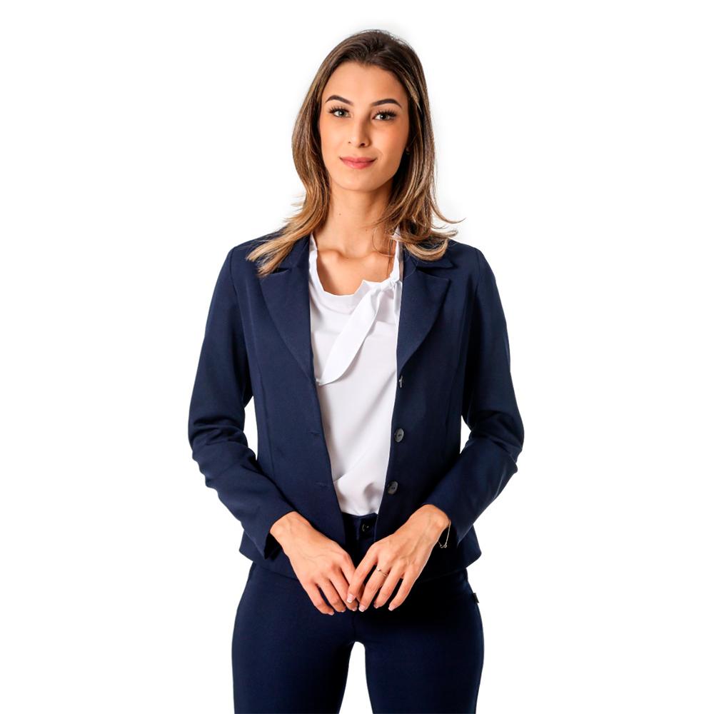 Terninho Social feminino alfaiataria marinho 1 calça e 1 blazer  Blanco Raro