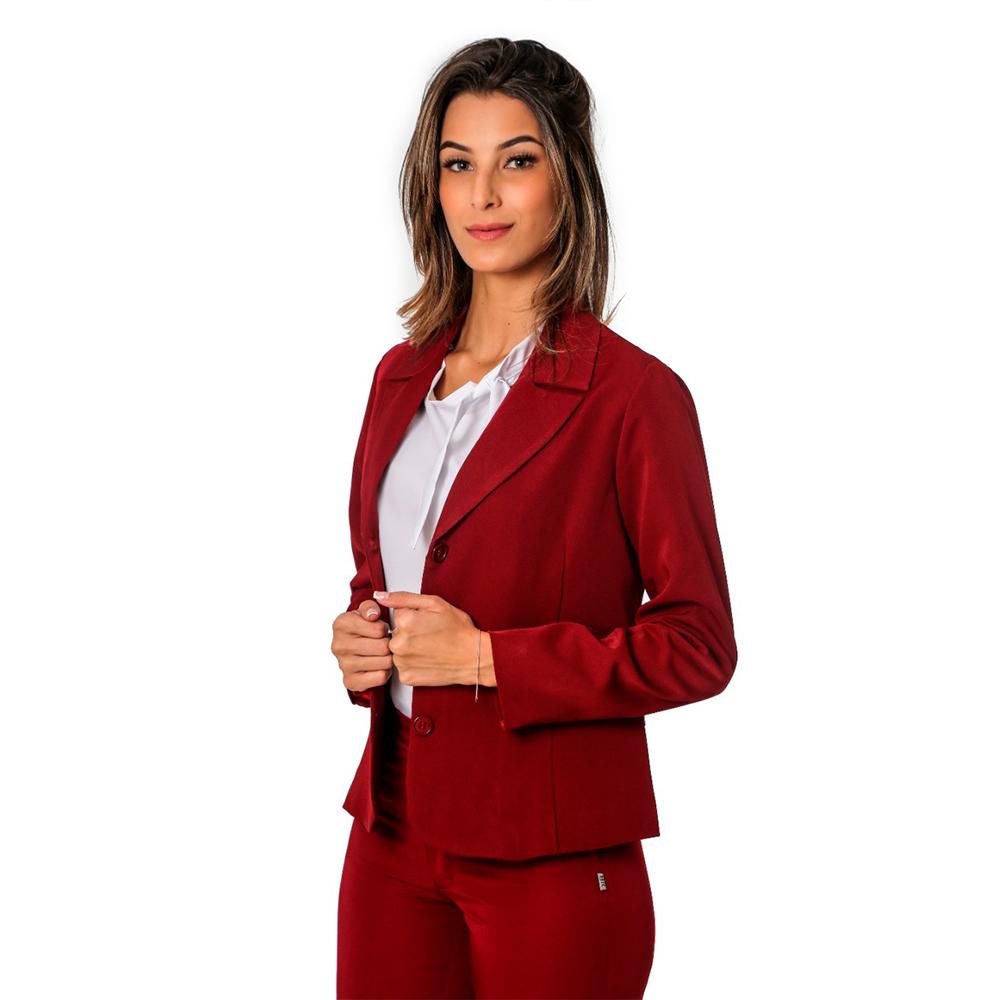 Terninho Social feminino alfaiataria Marsala 1 calça e 1 blazer  Blanco Raro