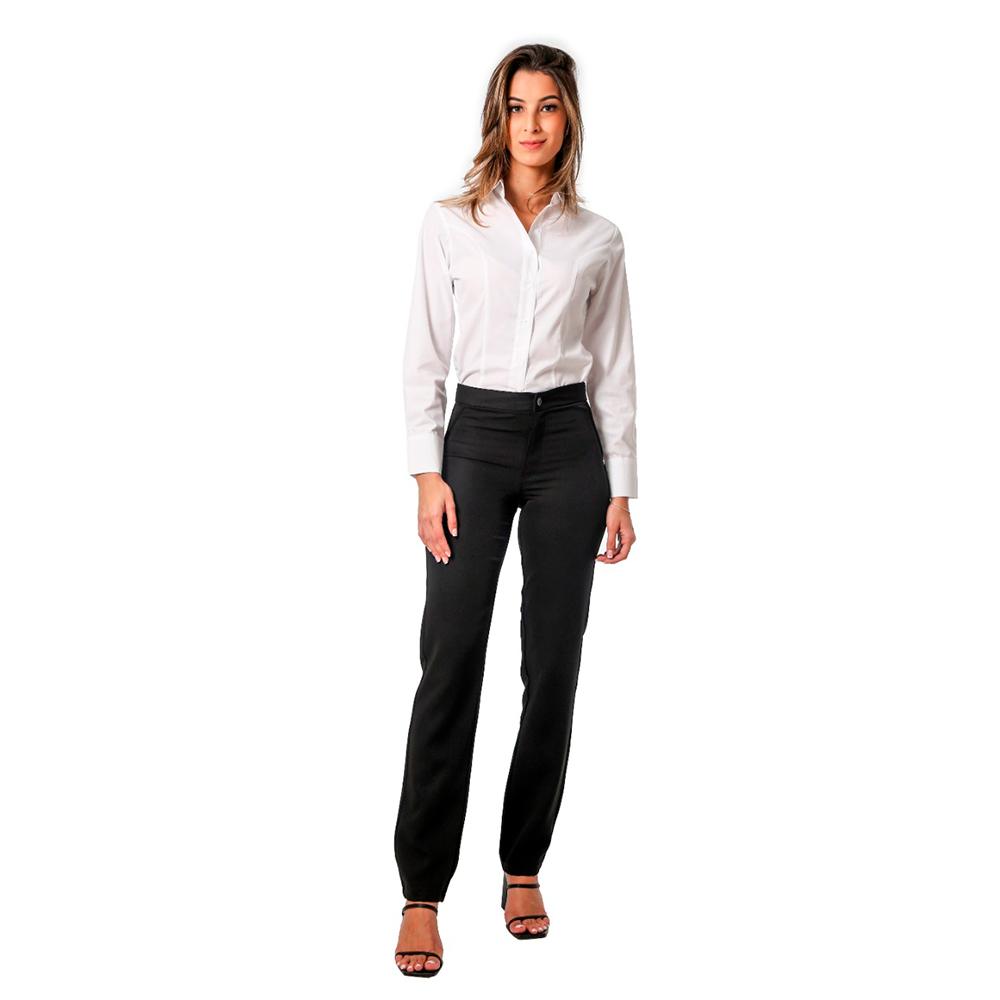Terninho social feminino Preto ou Marinho 1 blazer forrado 1 calça e 1 blusa social   Blanco Raro