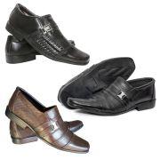 93e1d0c576 Kit 3 Sapato Social Masculino Couro Legítimo