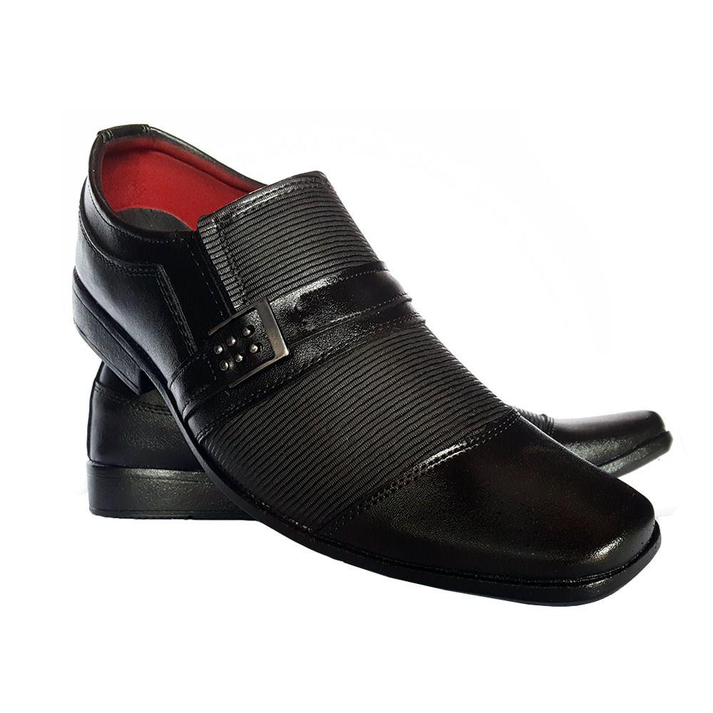 226e45a440c Sapato Social Masculino Em Couro Ecológico - Calçados Mig