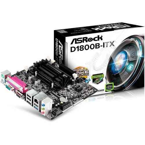 Placa Mãe Asrock D1800b-itx Mini Itx Com Celeron Dual Core 2