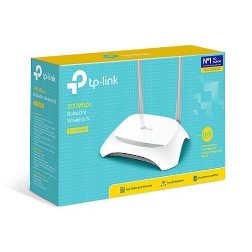 Roteador Tp-link Tl-wr849n Wireless 300mbps 2 Ant Fixas 5dbi