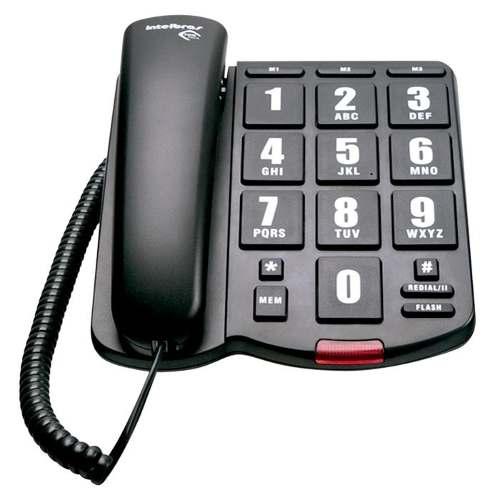 Telefones Com Fio Intelbras Icon Tok Facil Teclas Grandes