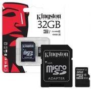 Cartão De Memória Microsd Kingston 32gb Classe 10 - Sdcs/32g