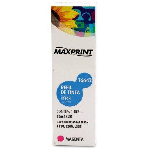 Cartucho Epson Maxprint Refil De Tinta Magenta 100ml Anúncio com variação
