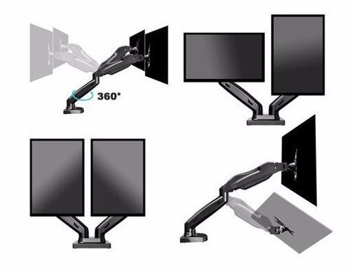 Suporte P/monitor Até 2 Monitores C/pistão A Gás F160n Elg C
