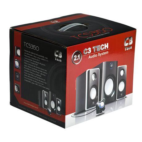 Caixa De Som C3 Tech Tcs3150 Audio System 2.1 10w, Subwoofer