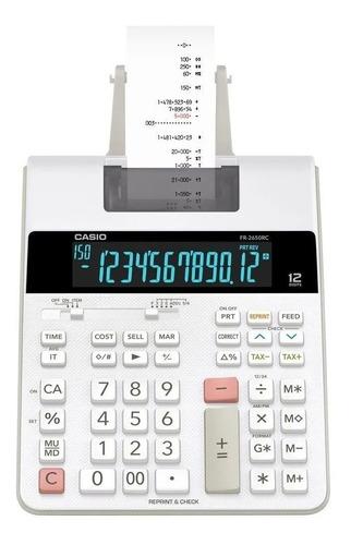Calculadora De Mesa Com Bobina Led Bivolt Fr-2650rc Casio
