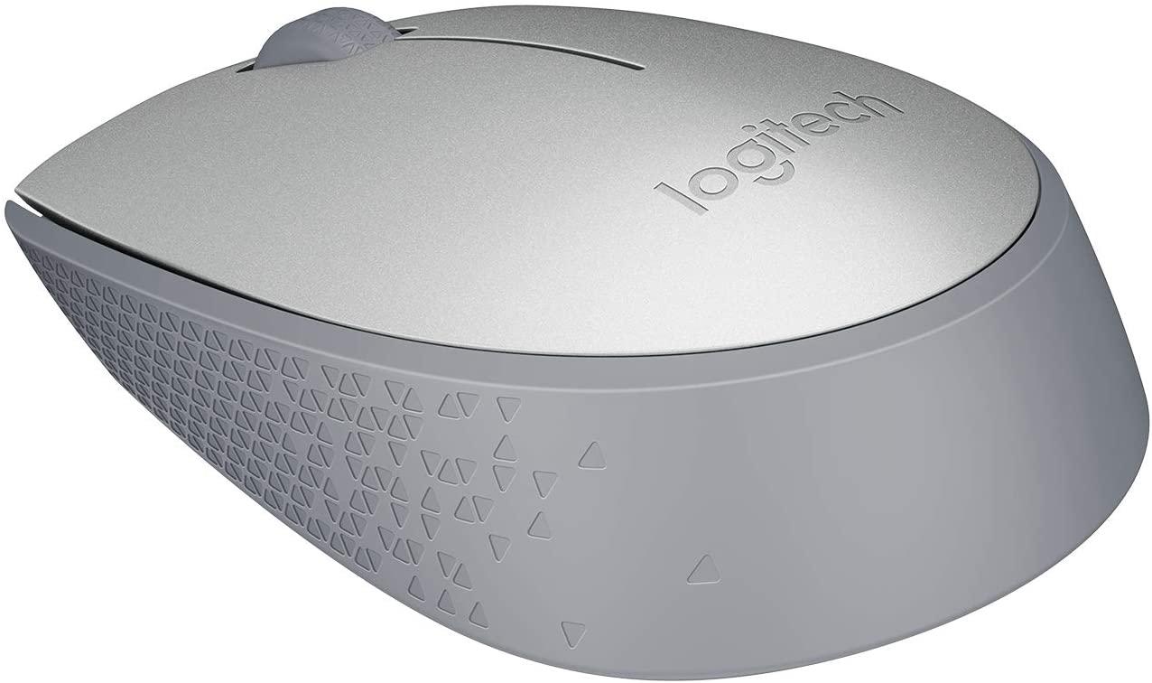Mouse sem fio Logitech M170 com Design Ambidestro Compacto, Conexão USB e Pilha Inclusa - Prata