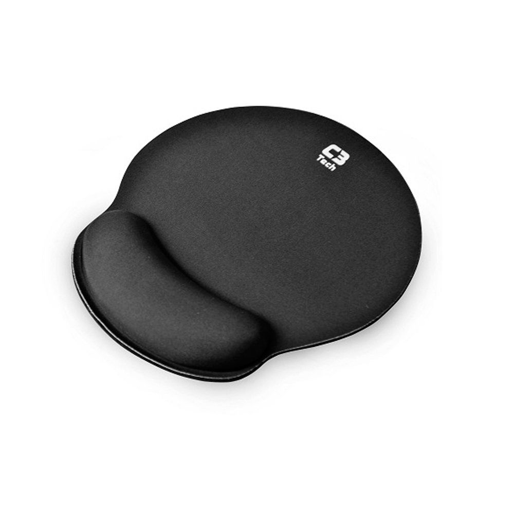 Mousepad C3 Tech Com Apoio De Punho Preto - Mp-100