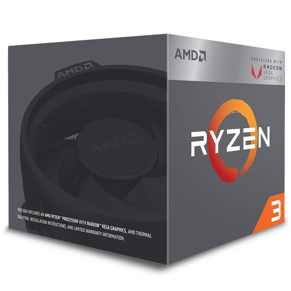 Processador AMD Ryzen 3 2200G c/ Wraith Stealth Cooler, Quad Core, Cache 6MB, 3.5GHz (3.7GHz Max Turbo), Radeon VEGA, AM4 - YD2200C5FBBOX