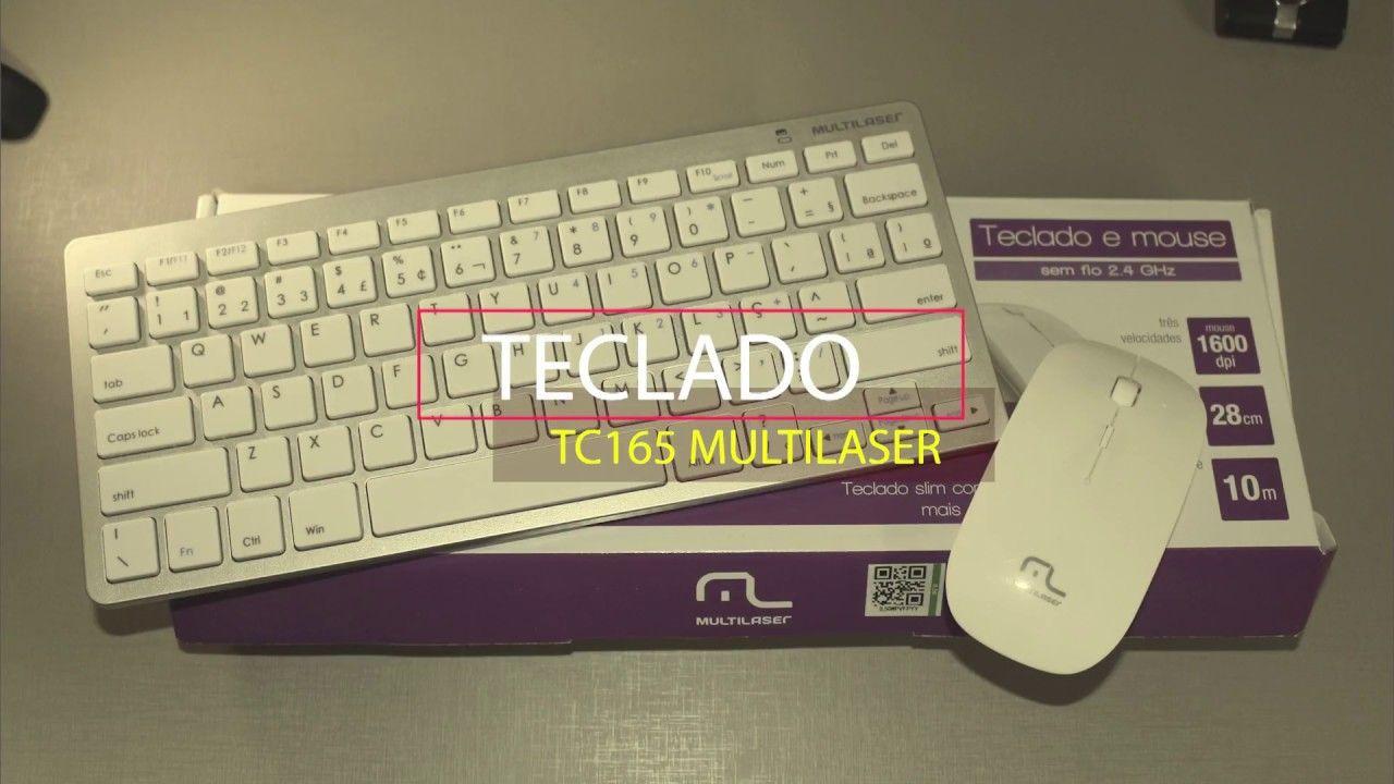 Teclado E Mouse Sem Fio 2.4 Ghz Multilaser Tc165