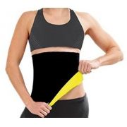Cinta Slim Modeladora Queima Gordura Less Now Amarela