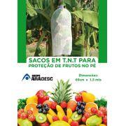 Saco De Proteção para Banana no Pé 1,50 mt x 0,69 cm em TNT Branco com Amarril