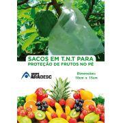 Sacos Em Tnt Para Proteção De Frutas No Pe 10 X 15cm Branco  com Amarril