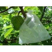 Sacos Em Tnt Para Proteção De Frutas No Pe 15 X 25cm Branco  com Amarril