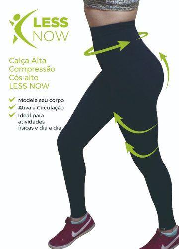 Calça Legging Less Now Alta Compressão Cós Alto Frete Gratis