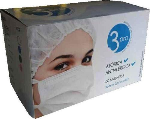 Mascara Cirúrgica Descartável Rosa 500 Pçs Com Elástico