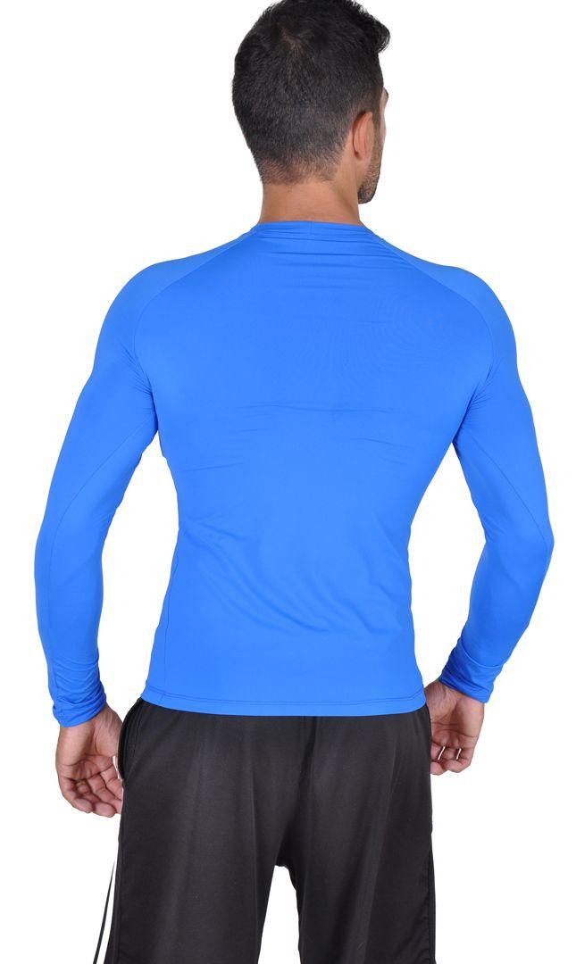 Camiseta Less Now Masculina Fator Proteção Solar 50 Uva/uvb Azul