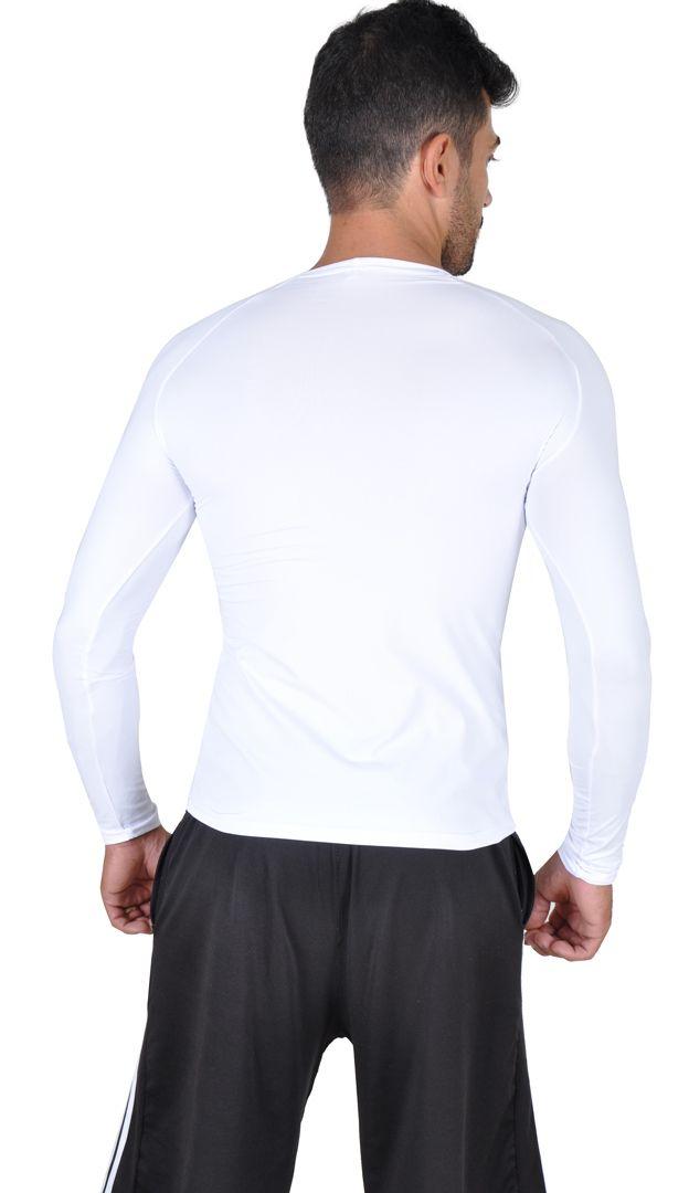 Camiseta Less Now Masculina Fator Proteção Solar 50 Uva/uvb Branco