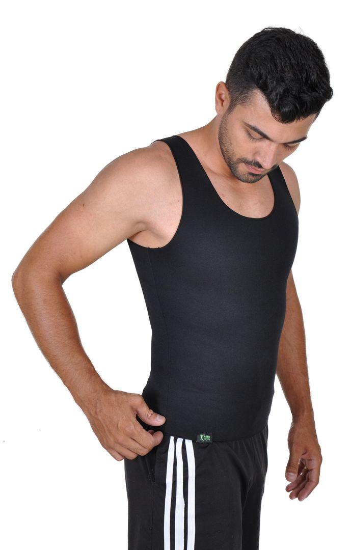 Cinta Emagrecedora MASCULINA Queima Gordura Less Now T-shirt Preta