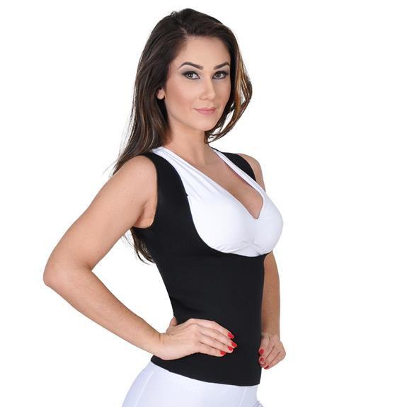 Cinta Emagrecedora Queima Gordura Less Now T-shirt  Rosa com Preto