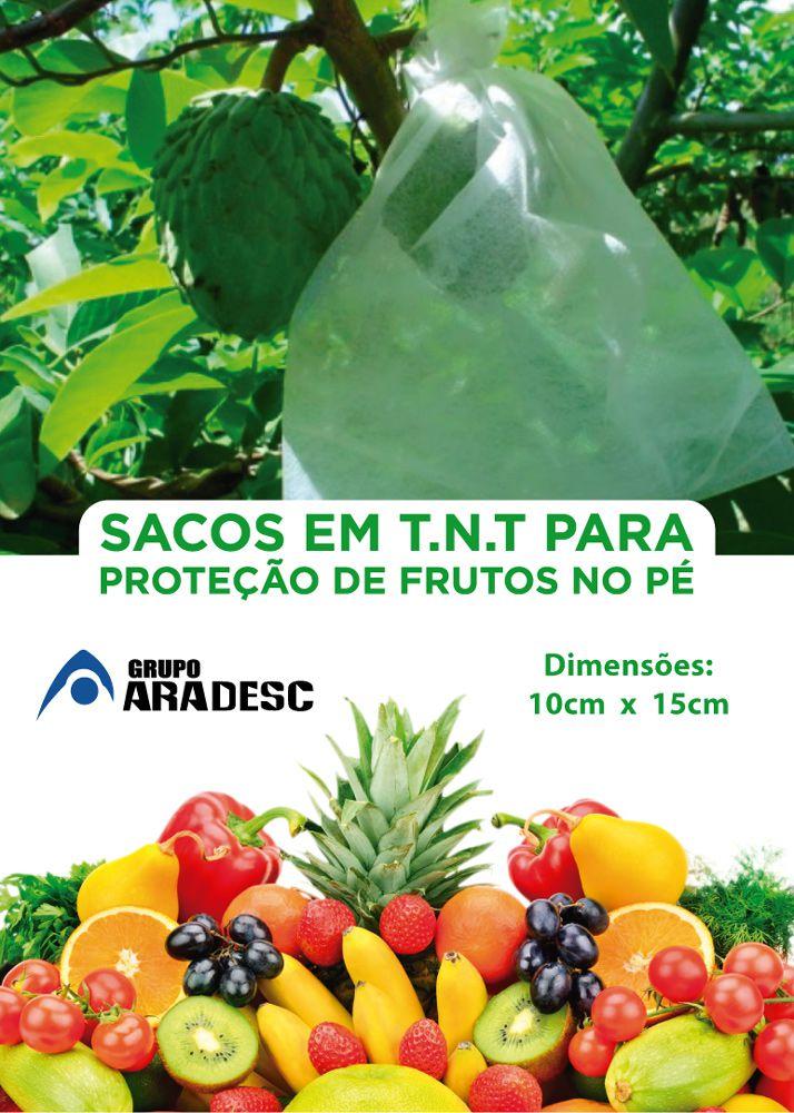 Sacos Em Tnt Para Proteção De Frutas No Pe 10 X 15cm Branco  com Amarrilho