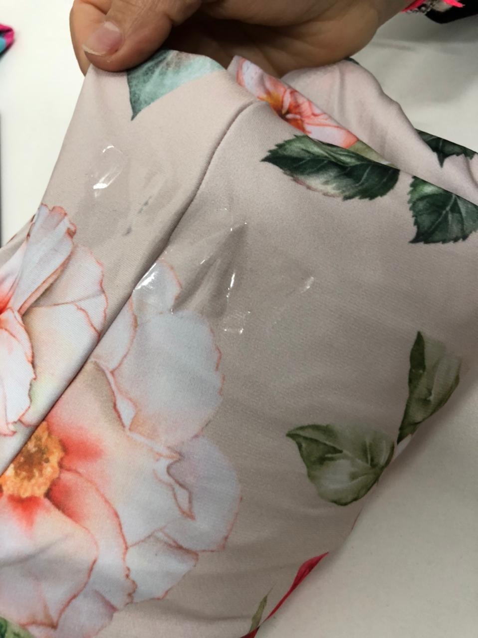 SALDO 547 Conjunto Floral Rose Tam UNICO