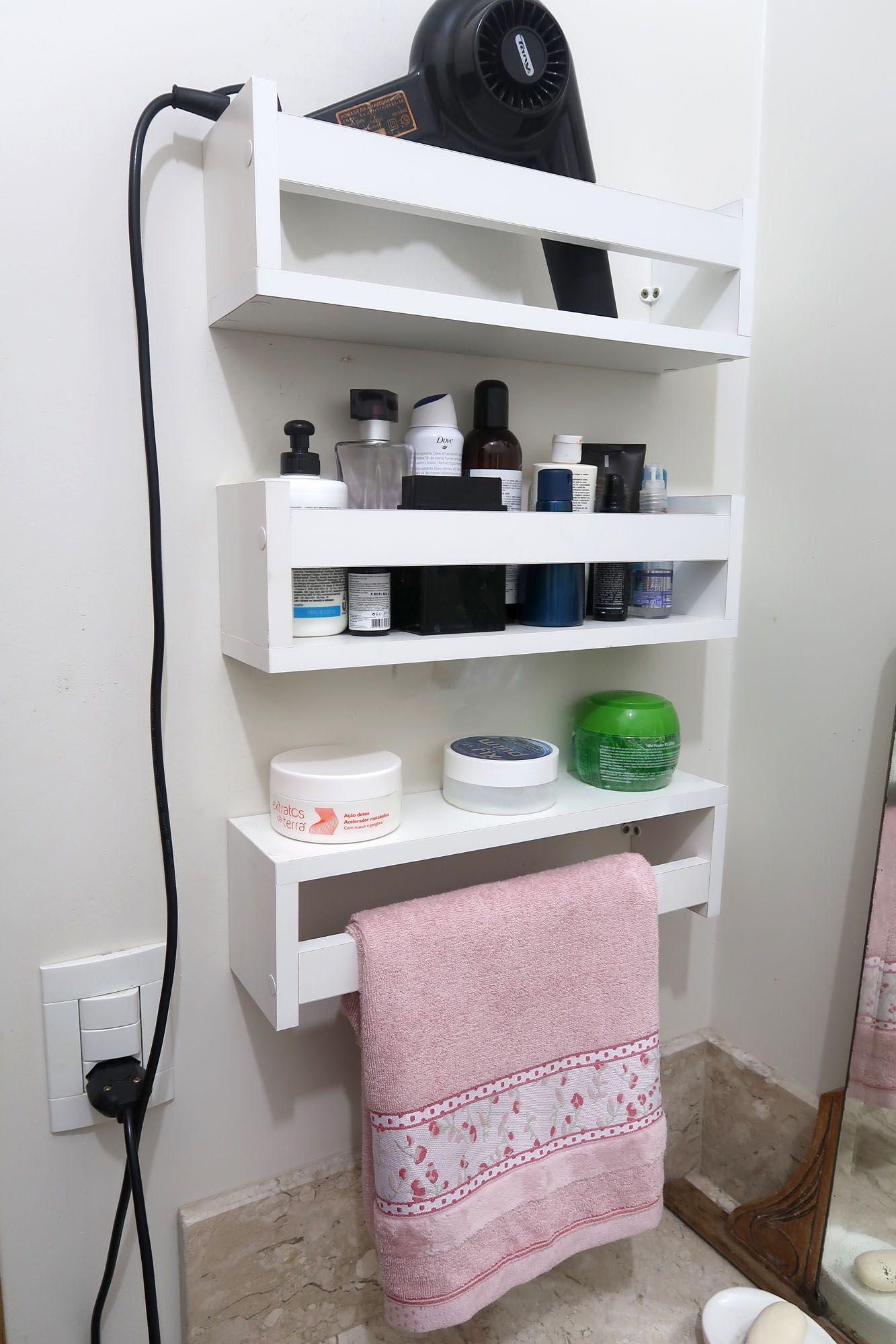 Prateleira Nicho Para Banheiro Cosméticos Perfume 60cm