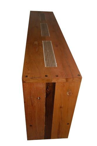 Aparador De Demolição Modelo Curitiba Com Tampo Trabalhado - 2,00 X 45 X 80 - Em madeira Selecionada
