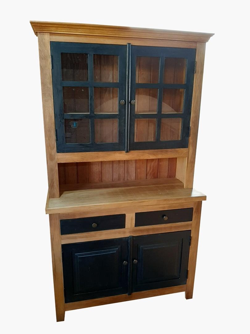 Armário de Demolição Modelo Cozinha - 1,00 X 50 X 2,10 - Com Portas e Gavetas Ebanizadas