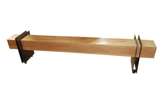Banco De Demolição Modelo Macapá - 2,20 X 23 X 48 - Pés Em Ferro Maciço - Em Madeira Selecionada