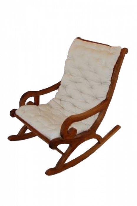 Cadeira De Balanço De Demolição Modelo Mineira - Incluso Futon - Em Madeira Selecionada